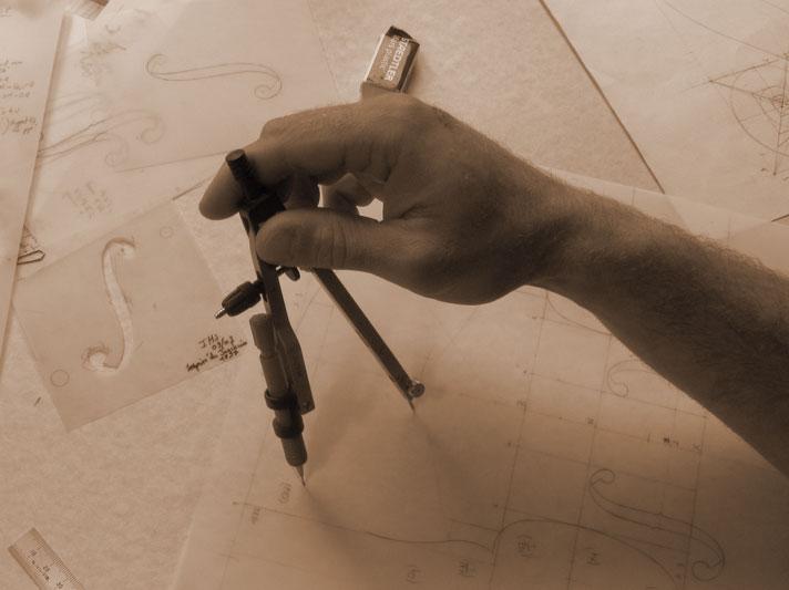 Lutherie - Etape de fabrication : le tracé